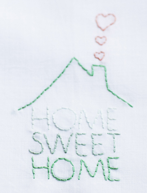 """Home Sweet Home"" embroidery"