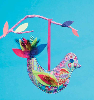 "This ""Exotic Bird of Paradise"" is one of the many easy-to-make projects you can find in Sewing for Kids."