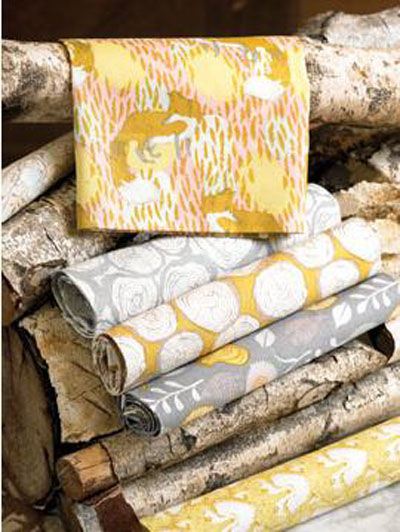 Sarah's newest collection from Blend Fabrics, Timber & Leaf (Photo by Jerry Mucklow)